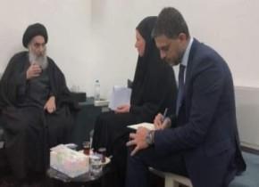 Аятолла Систани встретился с представителем генерального секретаря ООН в Ираке